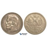 P35, Russia, Nicholas II, Rouble 1899 (**) Brussels, Silver, Toned!