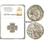 P53, Roman Empire, Lucilla, Augusta (164-182/3) AR Denarius (3.30g) Rome, 161-162 AD, Vesta, NGC MS