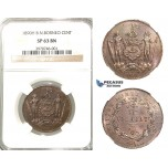 P63, British North Borneo, 1 Cent 1890-H, Heaton, NGC SP63BN