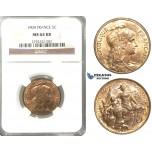 P70, France, Third Republic, 5 Centimes 1904, Paris, NGC MS64RB