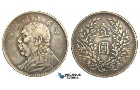 "R07, China, ""Fat Man"" Dollar 1914, Silver, Nice details & strong toning!"