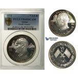 R102, United Arab Emirates, Ajman, 7 1/2 Riyals 1970 (Death of Nasser) Silver, PCGS PR68DCAM