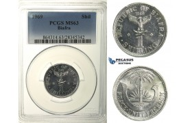 R103, Biafra, Shilling 1969, PCGS MS63
