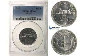 R104, Biafra, 2 1/2 Shillings 1969, PCGS MS66
