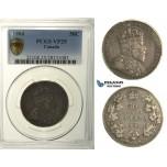 R113, Canada, Edward VII, 50 Cents 1904, Silver, PCGS VF25