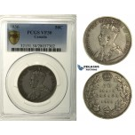 R117, Canada, George V, 50 Cents 1936, Silver, PCGS VF30