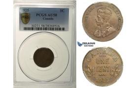 R118, Canada, George V, Cent 1925, PCGS AU58