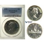 R119, Canada, Elisabeth II, Dollar 1956, Silver, PCGS PL66