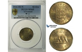 R145, Greenland, 50 Øre 1926-HCN, PCGS MS65