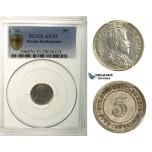 R167, Straits Settlements, Edward VII, 5 Cents 1903, Silver, PCGS AU53