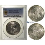 R169, Straits Settlements, George V, Dollar 1920, Silver, PCGS MS62