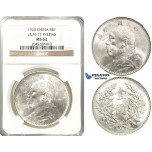 "R208, China ""Fat Man"" Dollar 1920, Silver, L&M 77, NGC MS62"