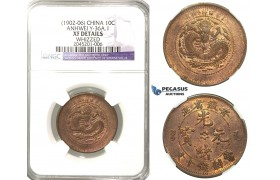 R209, China, Anhwei, 10 Cash ND (1902-06) NGC XF Details