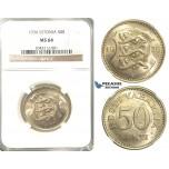 R214, Estonia, 50 Senti 1936, NGC MS64