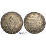 R22, Russia, Alexander I, Rouble 1802 СПБ-АИ, St. Petersburg, Silver, Toned and nice!