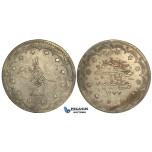 R26, Ottoman Empire, Turkey, Abdülaziz, 20 Kurush AH1277/9, Silver