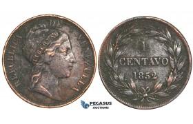 R361, Venezuela, 1 Centavo 1852, (Traces of corrosion)