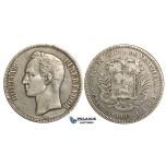 R367, Venezuela, 5 Bolivares 1902, Silver