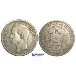 R370, Venezuela, 5 Bolivares 1919, Silver