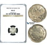 R390, Russia, Alexander III, 5 Kopeks 1882 СПБ-НФ, St. Petersburg, Silver, NGC MS65