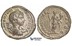 R397, Roman Empire, Caracalla (197-217 AD) AR Denarius (2.64g) Rome, Felicitas