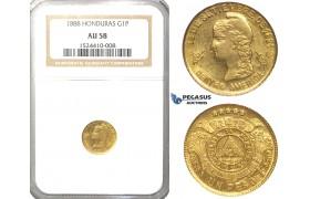 R40, Honduras, 1 Peso 1888, Gold, NGC AU58
