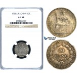R409, French Indo-China, 10 Centimes 1900-A, Paris, Silver, NGC AU58