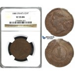 R415, Straits Settlements, Victoria, Cent 1888, NGC VF35BN