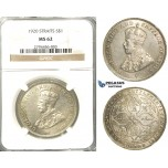 R421, Straits Settlements, George V, Dollar 1920, Silver, NGC MS62