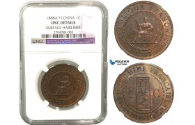 R426, French Indo-China, 1 Centime 1888-A, Paris, NGC UNC