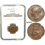 R431, Great Britain, Victoria, Farthing 1840, NGC XF40BN
