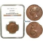R432, Great Britain, Victoria, 1/2 Penny 1841, NGC AU58BN