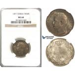 R46, Serbia, Alexander I, Dinar 1897, Vienna, Silver, NGC MS64