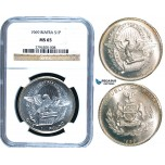 R467, Biafra, Pound 1969, Silver, NGC MS65