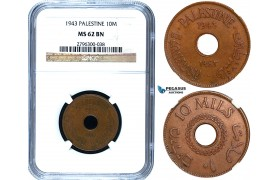 R476, Palestine, 10 Mils 1943, NGC MS62