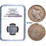R482, Straits Settlements, Victoria, 20 Cents 1895, Silver, NGC XF