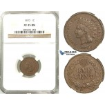 R509, United States, Indian Head Cent 1870, NGC XF45BN