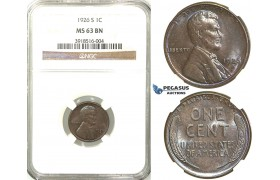 R514, United States, Lincoln Cent 1926-S, San Francisco, NGC MS63BN