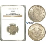 R517, United States, Liberty Nickel (5C.) 1883