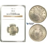 R519, United States, Liberty Nickel (5C.) 1904, NGC MS63
