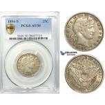 R532, United States, Barber Quarter (25C.) 1894-S, San Francisco, Silver, PCGS AU50