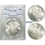 R541, United States, Morgan Dollar 1890-CC, Carson City, Silver, PCGS MS60