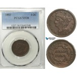R546, United States, Half Cent 1853, PCGS VF30