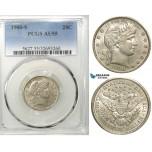 R552, United States, Barber Quarter (25C) 1900-S, San Francisco, Silver, PCGS AU55