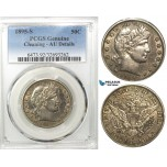 R554, United States, Barber Half Dollar (50C) 1895-S, San Francisco, Silver, PCGS AU Det.