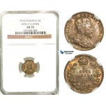 R560, Canada, Edward VII, 5 Cents 1910 (Holly leaves) Silver, NGC AU55