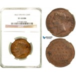 R581, Straits Settlements, Victoria, 1 Cent 1862, NGC XF40BN