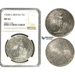 R602, Great Britain, Trade Dollar 1900-B, Bombay, Silver, NGC MS63