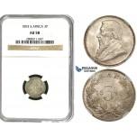 R611, South Africa (ZAR) Threepence (3 Pence) 1893, Silver, NGC AU58
