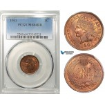 R635, United States, Indian Cent 1901, PCGS MS64RB